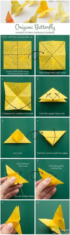 Origami – Butterfly #DIY