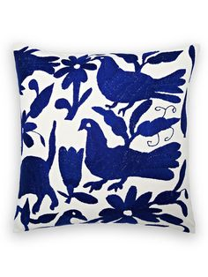 Authentic Mexican Otomi Pillow by Frog Hill Designs at Gilt