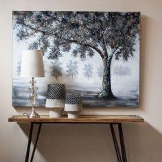 http://www.nuryba.com/ Cuadro Moderno Decorativo Plata Árbol I, lienzo pintura al óleo