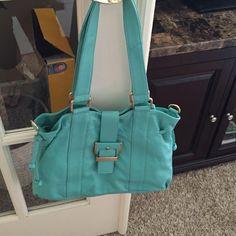 Simply Nina by Nina Raye bag Beautiful Aqua leather bag EUC. Comes with crossbody strap never used. Smoke free home. Bags
