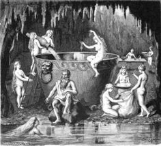 Aegir and his daughters brewing for the gods Jenny Nyström (1854-1946)