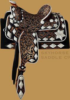 Spectacular saddle. #saddles