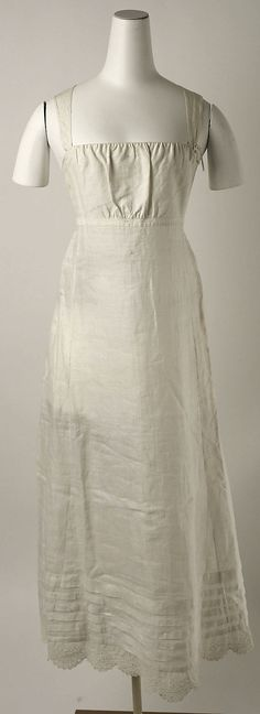 early 19th century linen petticoat, American - in the Metropolitan Museum of Art costume collections.