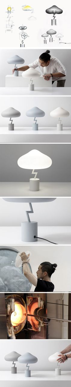 Lights are a fairly familiar sight on Yanko Design, but none of them can quite compare to the Lightning Lamp. The soft, rounded and simplistic form of the cloud combined with the angular, sharp and aggressive shape of the lightning bolt creates a striking lamp design. The simplistic approach that designer Jiyoun Kim took to the design allows the lamp to become a subtle feature in any room.