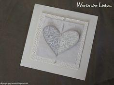 """Jenny's Papierwelt: Karte ~ """"Worte der Liebe"""" ~"""