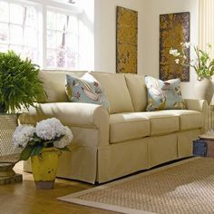 I pinned this Nantucket Sofa from the Style Study event at Joss and Main!