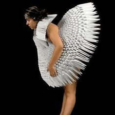 Fashion real passion: Origami + Fashion = Gorgeous paper clothing.