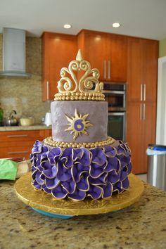 Rapunzel Cake Bolo Rapunzel, Rapunzel Birthday Cake, Tangled Birthday Party, Birthday Cake Girls, 5th Birthday, Little Girl Cakes, Bithday Cake, Birthday Desserts, Elegant Wedding Cakes