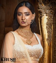 Crushing on this jewellery set by Glimour Jewellery  +44(0)7525 131 437 www.glimour.co.uk  Hair & Makeup: Hema Poore Outfit: Ekta Solanki