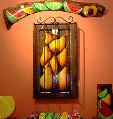 El Salvador_ kitchen decor! love the colors!