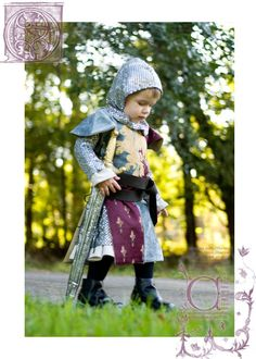 CUSTOM Boys Knight Costume - mom can you make this for B? Toddler Boy Halloween Costumes, Boy Costumes, Costume Halloween, Holidays Halloween, Halloween Kids, Knight Costume, Medieval Party, Renaissance Fair Costume, Knight Party