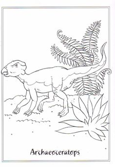 Coloring page Dinosaurs 2 Archaeoceratops on Kids-n-Fun.co.uk. On Kids-n-Fun you will always find the best coloring pages first!