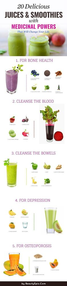 No matter who you are or what your health goals, introduce juices and smoothies… - Health Cleanse Juice Smoothie, Smoothie Drinks, Fruit Smoothies, Detox Drinks, Healthy Smoothies, Healthy Drinks, Smoothie Recipes, Healthy Eating, Healthy Recipes