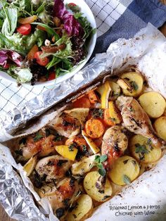 Cuisine Paradise | Singapore Food Blog | Recipes, Reviews And Travel: [Recipe] Roasted Lemon And Herbs Chicken with Wine