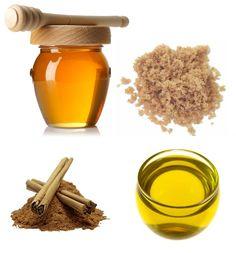 Sugar and honey make a banging lip scrub, face mask or hand scrub!