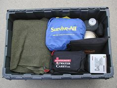 Make a survival kit in case you have to spend the night in your vehicle.