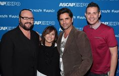 Desmond Child, Loretta Munoz, John Stamos and Marc Emert-Hunter at 9th Annual ASCAP 'I Create The Music' Expo. (Photo: PictureGroup)
