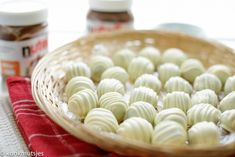 Nutella bonbons | Kookmutsjes Nutella, Smoothie Cup, Honeydew, Fudge, Biscuits, Garlic, Cookies, Baking, Fruit