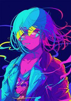 Draw Anime Japanese Illustrator BerryVerrine Dazzles With Awesome Retrowave Kawaii Art – grape Japan Art Cyberpunk, Cyberpunk Anime, Cyberpunk Aesthetic, Art Anime Fille, Anime Art Girl, Manga Art, Manga Drawing, Anime Girls, Art Pop