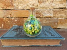 Green Origami Star Potion in a Bottle by LigiaClaudia on Etsy, $23.00