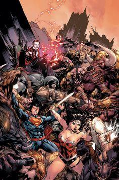 "da-watchtower: "" Superman Wonder Woman Vol.1 #17 (Cover art by Ed Benes) """