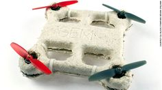 (CNN) -- A bio-drone that dissolves after use leaving no trace it ever existed may sound like the stuff of a James Bond film, but NASA and a team of researchers are actually building one. Robotic Automation, Gadgets, Fungi, Biodegradable Products, Stuffed Mushrooms, Drones, Robotics, James Bond, Airplane