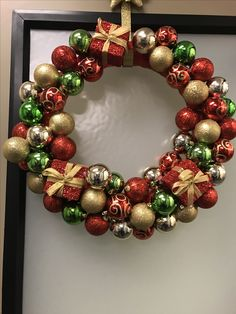Holiday presents ornament wreath