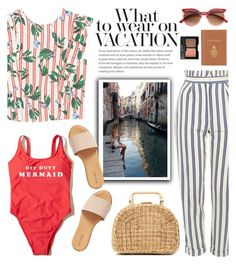 """Capri Travel Outfit"" by glamorous09 ❤ liked on Polyvore featuring Hollister Co., MANGO, Topshop, Hinge, Barrie, Charlotte Russe, Kayu, Italy and capri"
