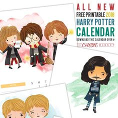 Here is a brand new Free Printable 2019 Harry Potter Calendar that you will love! Plus you will find a magical array of other Harry Free Printables!