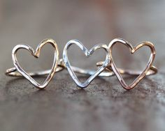 Valentines Day Heart Ring #rings #jewelry #hearts