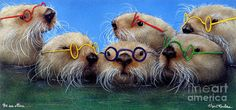 The See Otters... Painting  - The See Otters... Fine Art Print