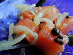 Marynowany surowy łosoś - Moje Małe Czarowanie - Dorota Owczarek Salmon Appetizer, Fish And Seafood, Appetizers, Japanese, Ethnic Recipes, Diet, Christmas Deco, Japanese Language, Appetizer