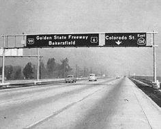 California - U. S. highway 6, U. S. highway 99, and state highway 134 sign.