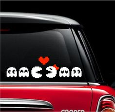 Pacman Family Car Decal
