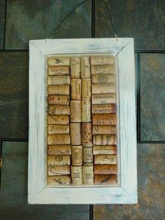Shabby Chic Message Board/Wine Cork Art/Wall by Happiness2DAY, $24.99