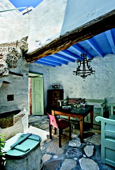 House on Patmos island, Greece Santorini, Mykonos, Outdoor Spaces, Outdoor Living, Outdoor Decor, Beautiful Islands, Beautiful Places, Places In Greece, Greek House