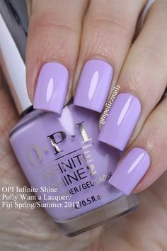 Grape Fizz Nails: OPI Infinite Shine Fiji Spring/Summer Want a Lacquer?