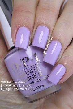 Grape Fizz Nails: OPI Infinite Shine Fiji Spring/Summer Want a Lacquer? Nails Opi, Opi Nail Polish Colors, Purple Nail Polish, Pastel Nails, Purple Nails, Spring Nails, Summer Nails, Fall Nails, Cute Nails