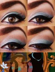 Disney princess Jasmine makeup inspired
