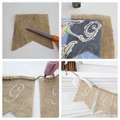 Fall mantel and burlap banner tutorial I Heart Nap Time   I Heart Nap Time - Easy recipes, DIY crafts, Homemaking