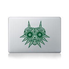 Tribal Majora's Mask Macbook Sticker #design #macbook #macbookstickers #pimpmymacbook #decals #stickers #vinyl #DIY #laptop #zelda #majorasmask #nintendo #gaming