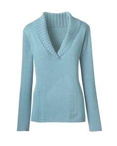 Mini shawl collar sweater - [K10875]