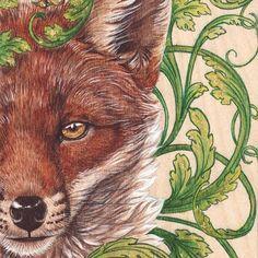 "New artwork! ""The Trickster Among Us""  Red fox illustration with fantastic ornament. Watercolour, acrylic, gold leaf on birch wood panel. 5""X7""  LIMITED EDITION SIGNED PRINTS: https://www.etsy.com/ca-fr/listing/510582953/imprimer-pre-order-le-trickster-parmi  MERCH: http://www.redbubble.com/fr/people/melissasteben/works/25143240-the-trickster-among-us  Thank you for your support! #artistsoninstagram #redbubble #danielsmith #sennelier #creatifsdeserres #raphaelbrushes"