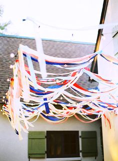 Red, White, and Blue Streamers // Fourth of July Decorations