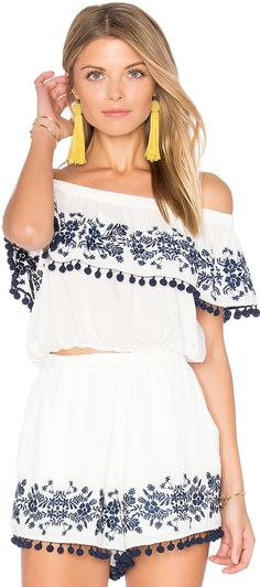 Show Me Your Mumu Teagan Pom Pom Crop Top (affiliate link)