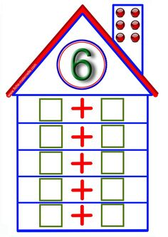 Parts of 6 Preschool Learning Activities, Kindergarten Math, Teaching Math, Preschool Activities, Math Addition, Addition And Subtraction, Math Expressions, School Worksheets, Math Numbers