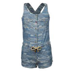 Girl Jumpsuit Kids | Zomercollectie CKS | All-over camouflage print | Super stoer en trendy | www.kienk.nl