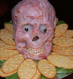 HALLOWEEN TREAT RECIPES | Halloween2011-meathead-lunchmeat-skull