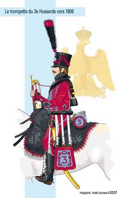 Cavalerie. Régiment de hussards n° 3. Tompette. 1806