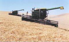 I love wheat combines